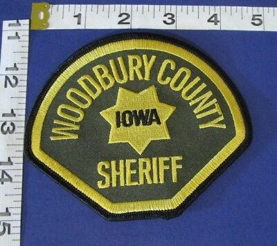 Woodbury  County Iowa Sheiff Shoulder  Patch