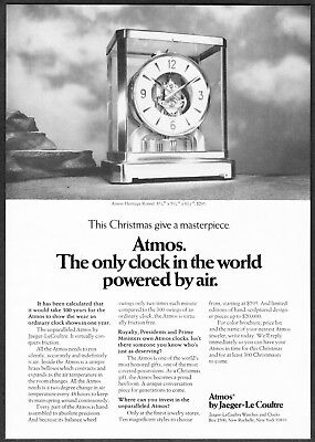 1974 Atmos Heritage Round Clock by Jaeger-Le Coultre photo vintage print ad