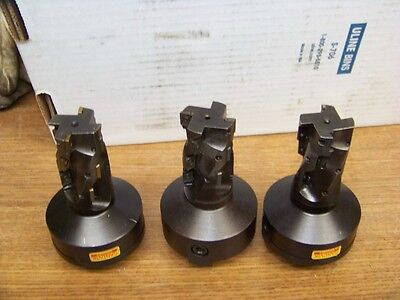 Nice Lot Of  3 Sandvik Coromant Indexable Square Shoulder Milling Cutters