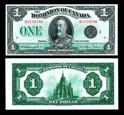 1923B Dominion of Canada Large Note - BLACK SEAL~ UNCIRCULATED