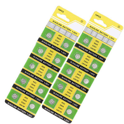 AG3 LR41W 392A CX41 1.5V Button Cell Coin Battery Electronics Accessories 10 Pcs