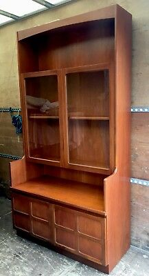 Vintage/Retro Nathan Teak Wall/Display Cabinet Good Solid Condition