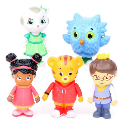 Daniel Tiger's Neighborhood Figures Toys Friends Kids Gift 5 Pcs - 6cm