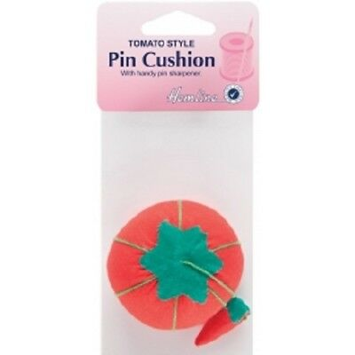Hemline Tomato Needle & Pin Cushion with Attached Sharpener