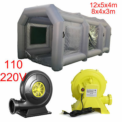 39/26Ft Inflatable Spray Booth Custom Tent Car Paint Booth + 370/950W Blower