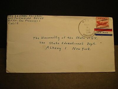 USS PORTERFIELD DD-682 Naval Cover 1955 Sailor's Mail