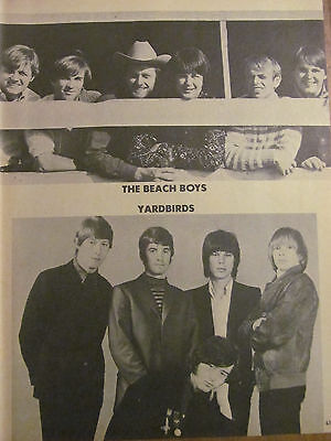 The Beach Boys, The Yardbirds, Full Page Vintage Pinup