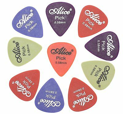 10 Thin Light Delrin Guitar Picks Plectrum Acoustic Electric .58mm