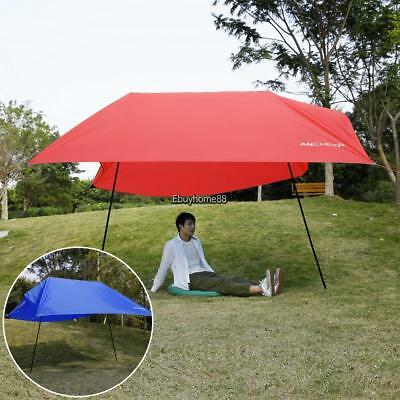 Large Beach Canopy Sun Shade Shelter Tent Camping Hiking Fishing