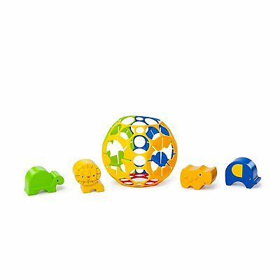 NEW Oball Fun & Easy Animal Shape Sorter Toy - Multi Coloured