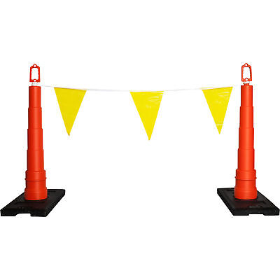 Safety Rail Company 105ft Warning Line w/Flags-Yellow