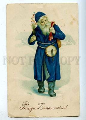 202806 Blue-Robed SANTA CLAUS Droom Vintage NEW YEAR PC