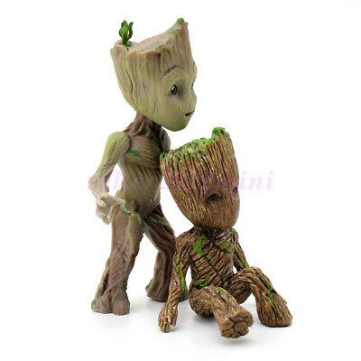 "US Ship Cute 3.5"" Guardians of The Galaxy Vol 2 Baby Standing Groot Figure Toy"