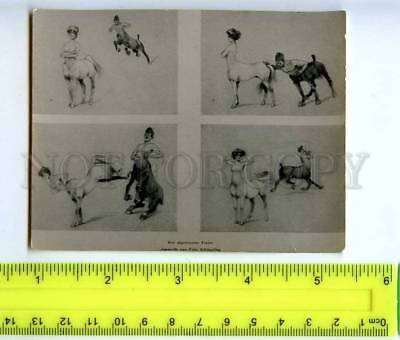 213314 Schonpflug lovers centaurs collage russian photo miniature card