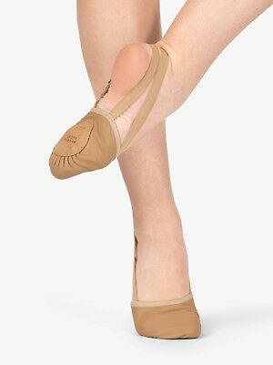 NEW Body Wrappers 621C Jazzy TAN Lyrical Half Sole Dance Shoes Child sizes