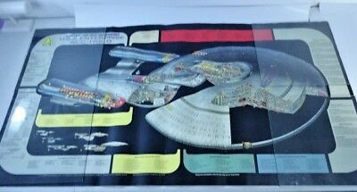 Vintage STAR TREK The Next Generation Poster USS ENTERPRISE Blueprint 1991 47X25