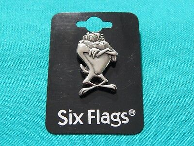 1999 Six Flags TAZ Tasmanian Devil Lapel Pin Tie Tack Looney Tunes Cartoons