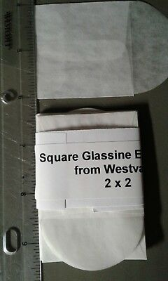 25 Square Glassine Envelopes - 2 x 2