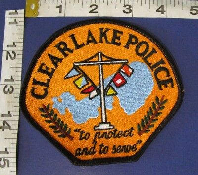 Clear Lake Iowa  Police  Shoulder Patch