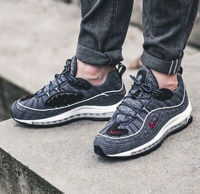 fbd5d7ee7745 Nike Air Max 98 QS Size 9 UK Thunder Blue Genuine Authentic Mens Trainers
