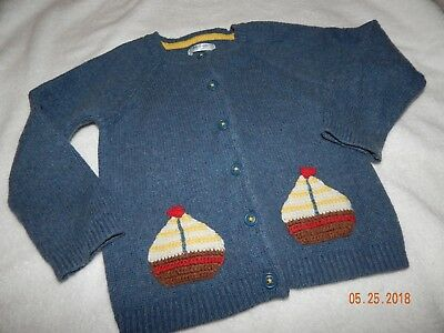 HTF Mini Boden Baby Boden Boys 2T 3T Sailboat Knit Wool Sweater Absolutely Adora