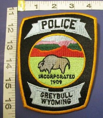 Greybull Wyoming Police Shoulder Patch