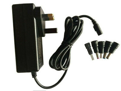 12 Volt 2.5 Amp Ac/dc Power Supply Adapter 12V 2500Ma A Charger Universal Tips