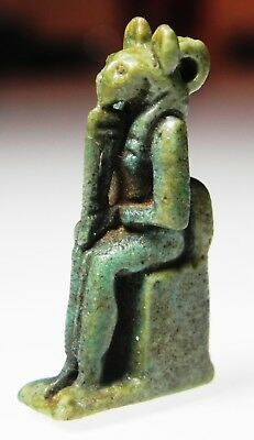 Zurqieh -As5447- Ancient Egypt. Nice Faience Amulet Of Sekhmet. 600 - 300 B.c
