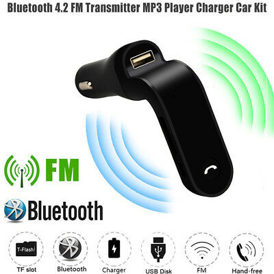 S6 BT USB Charger LCD Car Kit MP3 Bluetooth FM Transmitter With Hands-Free