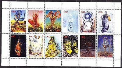 OSD 1999 Sheet of 12 All Different Test Stamps