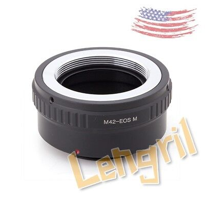US Lens Adapter Ring For M42 Screw Mount Lens To Canon EOS M EOS-M2 camera