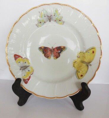 "Vintage Limoges ""Butterfly"" Small Decorative Plate.Bernaudaud  France   6  1/2"""