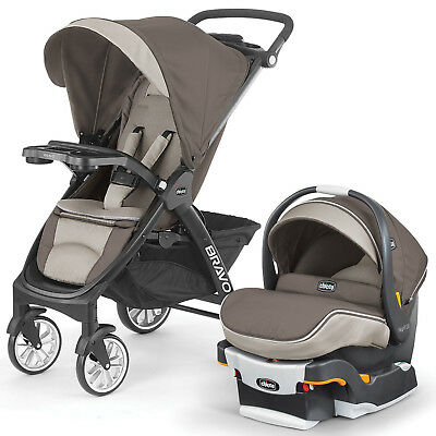 Chicco Bravo LE Trio Travel System Stroller w/ KeyFit 30 Zip Car Seat Latte NEW