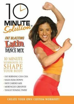 Dance Cardio EXERCISE DVD - 10 Minute Solution Fat Blasting Latin Dance DVD