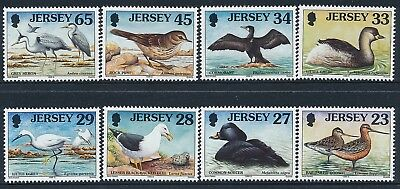 1999 JERSEY SEA BIRDS & WADERS (23p-65p) PART 4 SET OF 8 FINE MINT MNH