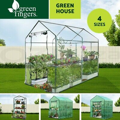 Walk In Greenhouse Tunnel Plant Garden Shade Green House Storage Grow Sheds
