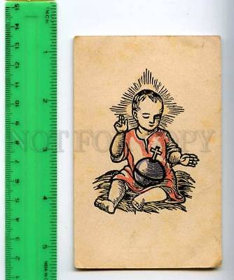 254158 GERMANY Religious Woodcut Sister Roswina Vintage card