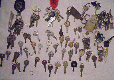 Miscellaneous Lot of Vintage Keys (100+), Flat, Padlock, Cabinet, Car, Door