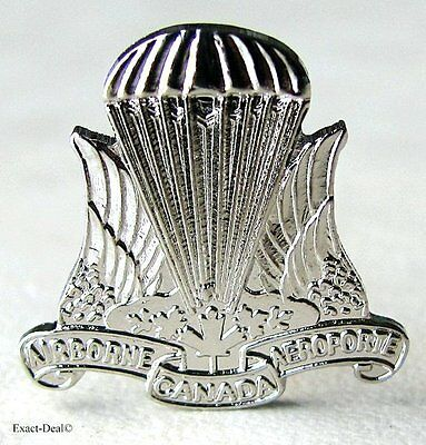 Canadian Airborne Paratrooper silvered  Lapel Pin