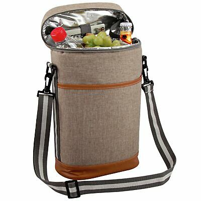 GEEZY Deluxe Insulated Padded Wine Bottle Cooler Bag Picnic Cool Drinks Carrier
