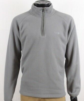 9885a0a98 THE NORTH FACE Mens Grey Waffle Fleece 1/2 Zip Pullover Sweater Size Medium  M