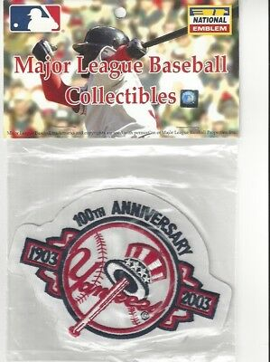2003 New York Yankees 100th Anniversary Sleeve Patch Official MLB Jersey Logo