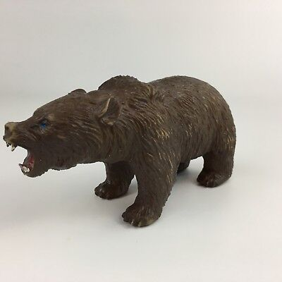 Vintage AAA Repl Grizzly Bear Wild Animals Pretend Play Animal Toy Figure