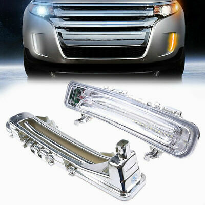 Pair Front Led Fog Light Daytime Running Lamp For Ford Edge