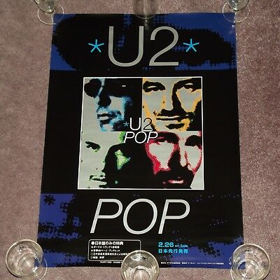 U2 Pop - RARE 1997 JAPAN PROMO POSTER (Japanese / 51.5cm x 73cm)