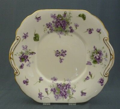 Hammersley Victorian Violets Bone China England's Countryside FANCY Cake Plate