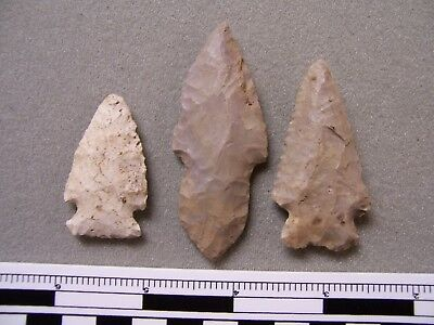 Three Nice Authentic Wisconsin Points From The G.l. Johnson Collection