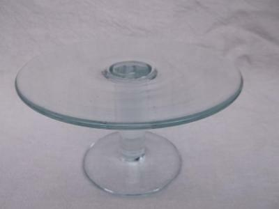 612 / Beautiful Antique Hand Blown Glass Stand For Displaying Cakes Etc