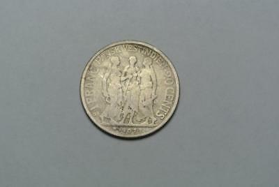 Rare Danish West Indies 20 Cents 1 Franc, 1907, Average Circulation - C5937