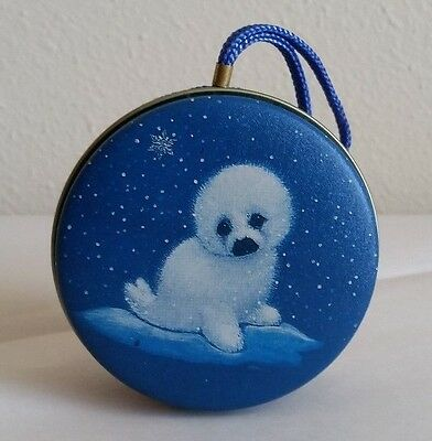 Ruth Morehead Young Uns Baby Seal Ornament Tin